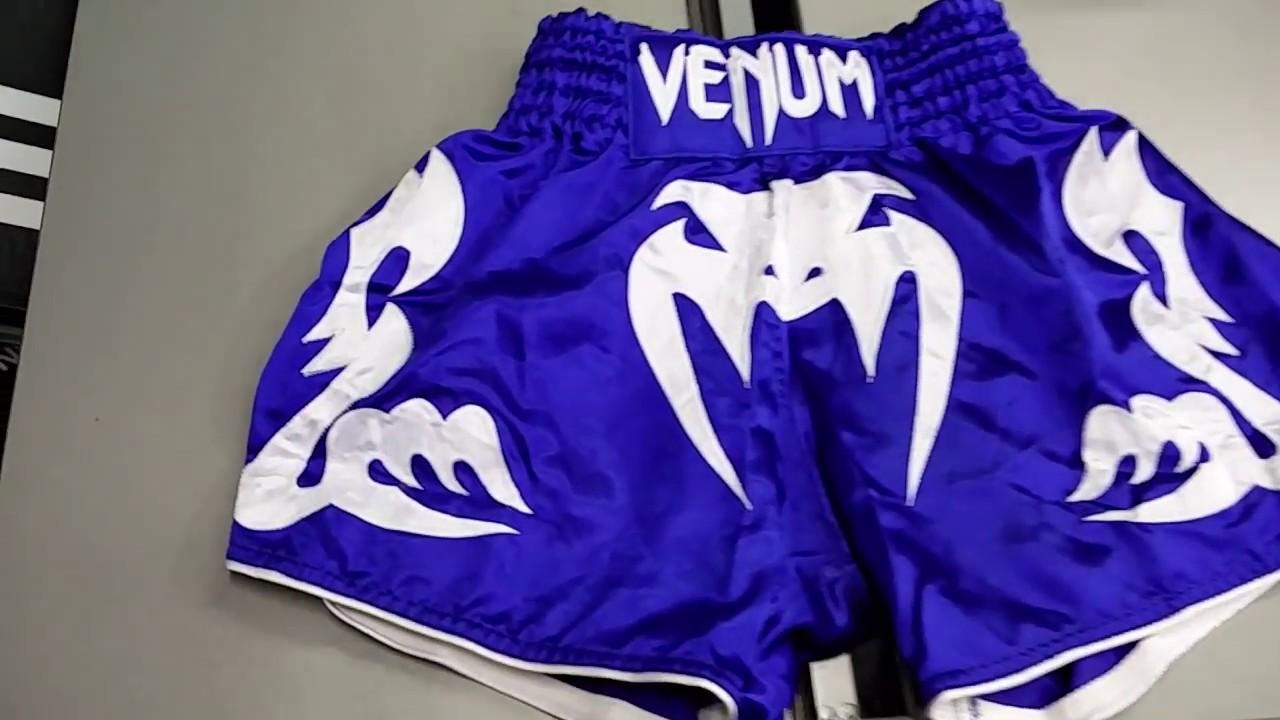 Blue//Ice Venum Bangkok Inferno Muay Thai Shorts