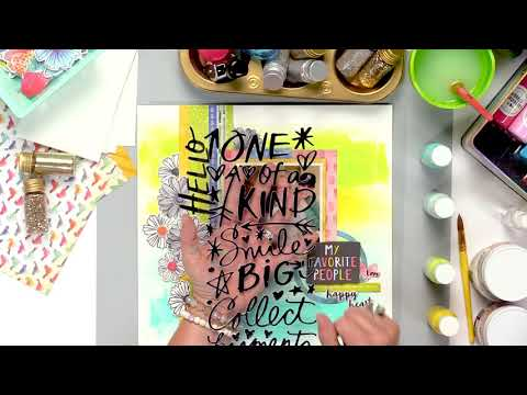 """Discover Vicki Boutin's """"Golden Nuggets"""" for Using Acrylic Paint on a Layout"""