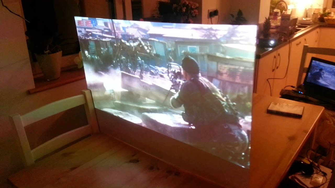 Home made rear projection screen