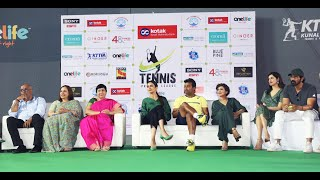 Inauguration of the Kotak Mahindra Tennis Premire League by Celebrity Team Owners