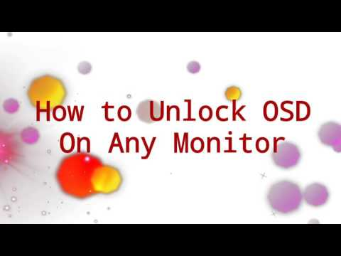 How to Unlock OSD on monitor Menu - Problem [Solved] - YouTube
