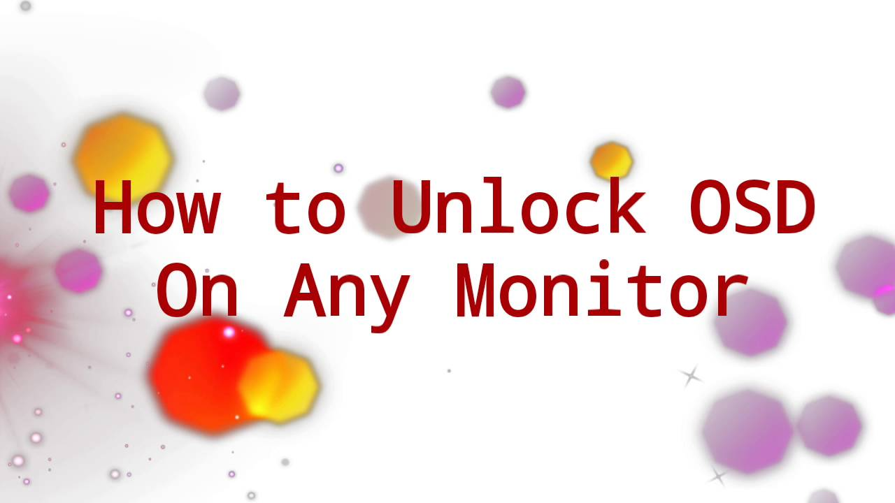 How to Unlock OSD on monitor Menu  Problem Solved  YouTube