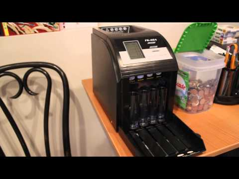 Royal Sovereign FS-4DA-Coin Counter Sorter Machine Review and Demonstration