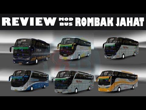 Review Mod Bus SETRA X-ZAR, Rombak Jahat - ETS 2 Mod Indonesia - 동영상