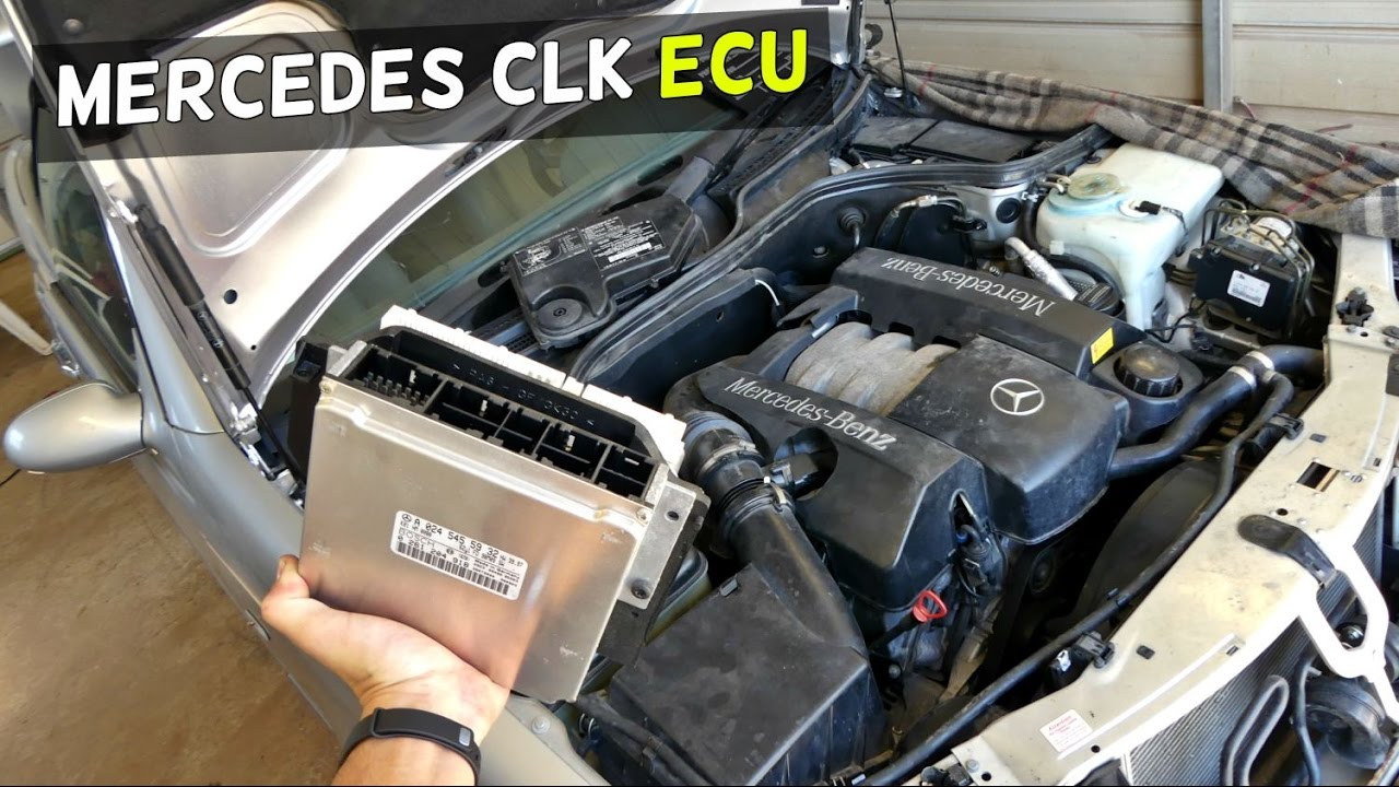 model t ford wiring diagram tempstar furnace mercedes w208 ecu location removal replacement clk clk200 clk230 320 clk430 - youtube