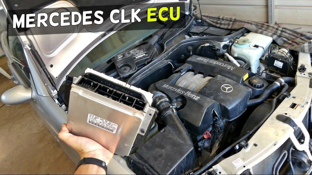 MERCEDES W208 ECU LOCATION REMOVAL REPLACEMENT CLK CLK200 CLK230 CLK 320 CLK430 - YouTube