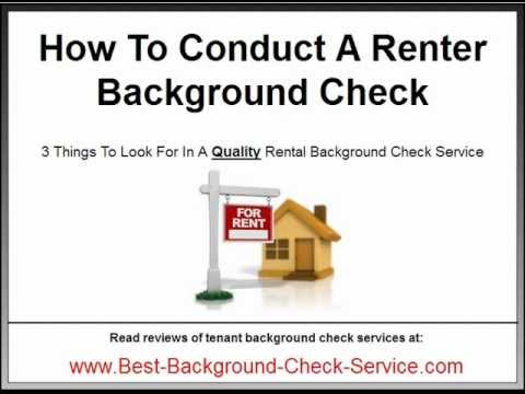 Renter Background Check - How To Choose A Rental Background Check