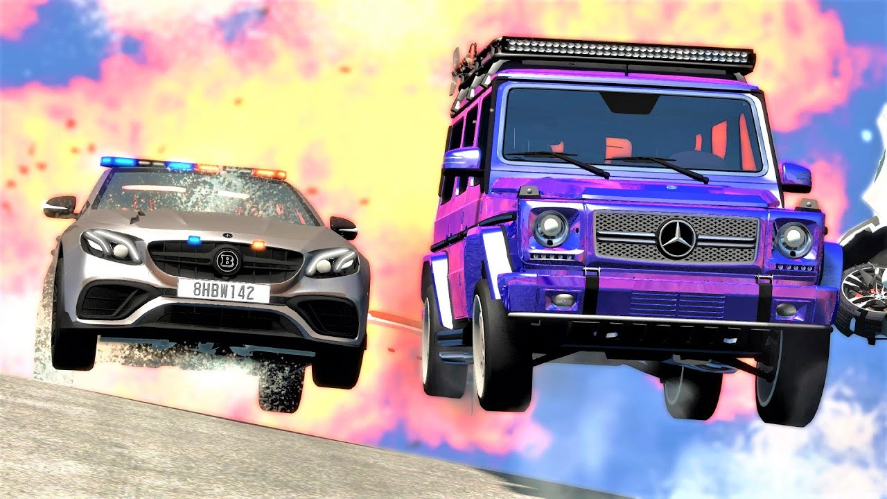 BLUE THUNDER - Epic Police Chase & Crashes #82 - BeamNG Drive | CRASHdriven
