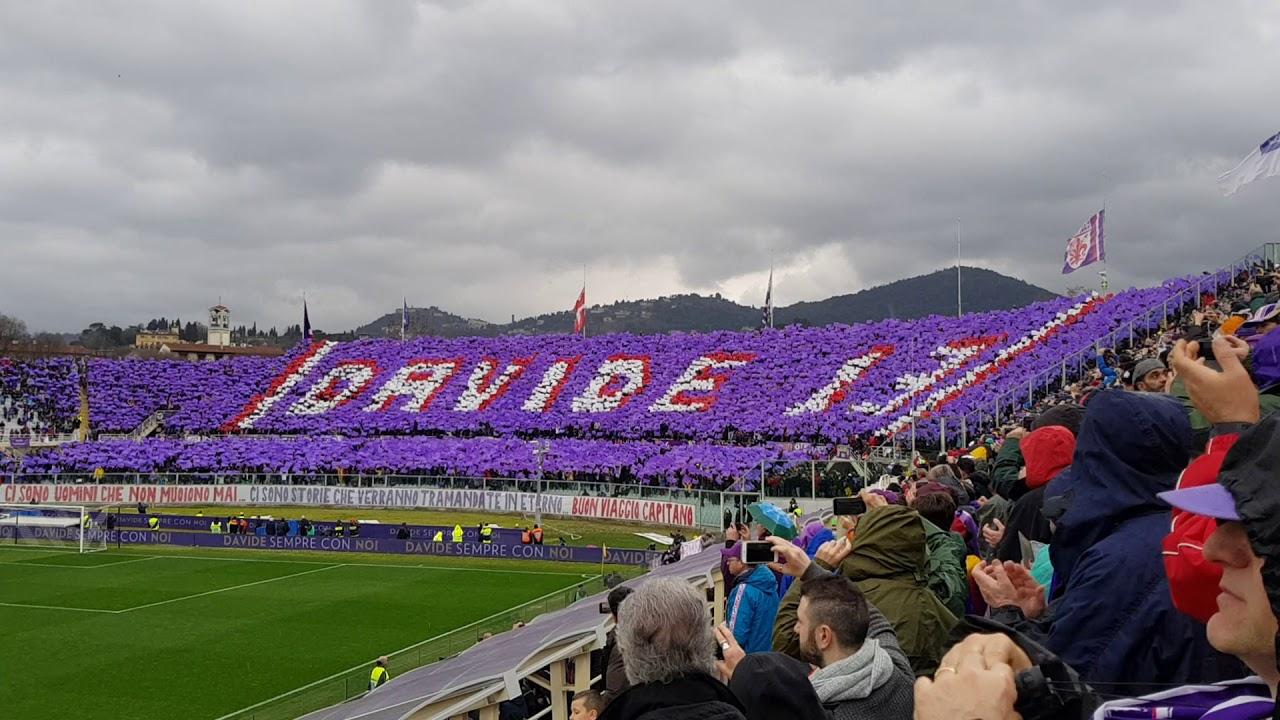 Fiorentina Benevento minuto 13. Omaggio ad Astori - YouTube