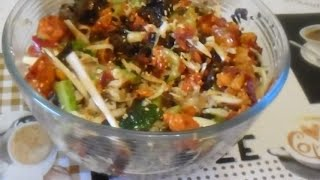 Салат с грибами Моер по Ю, Корейски.