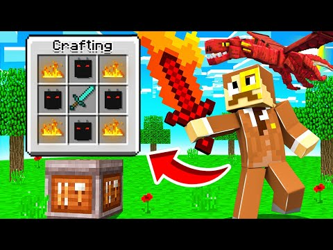 Crafting a OP DRAGON SWORD in Insane Craft!