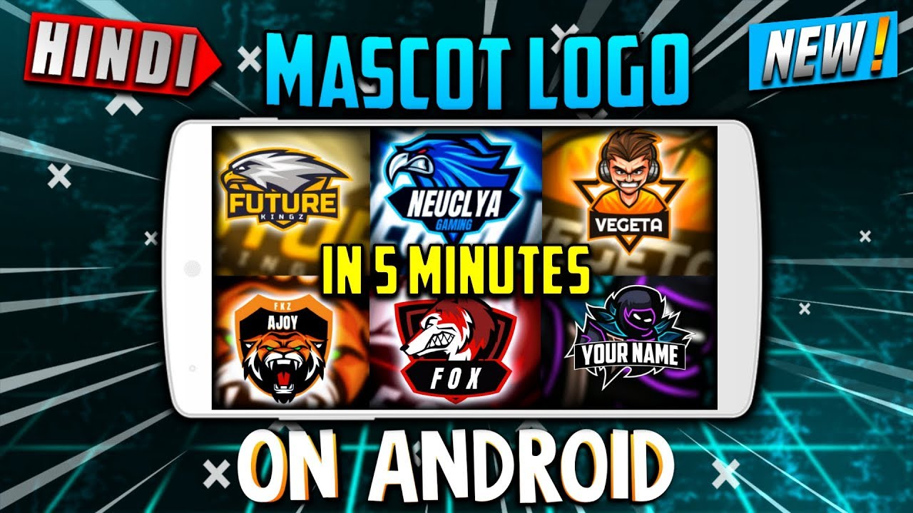 How To Make Gaming Logo On Android 2019 | Mascot Logo Design On Android | Ps Touch Tutorial In Hindi