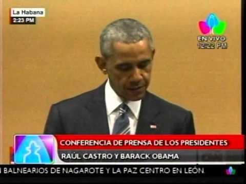 Presidentes Raúl Castro y Barack Obama ofrecen conferencia de prensa en Cuba