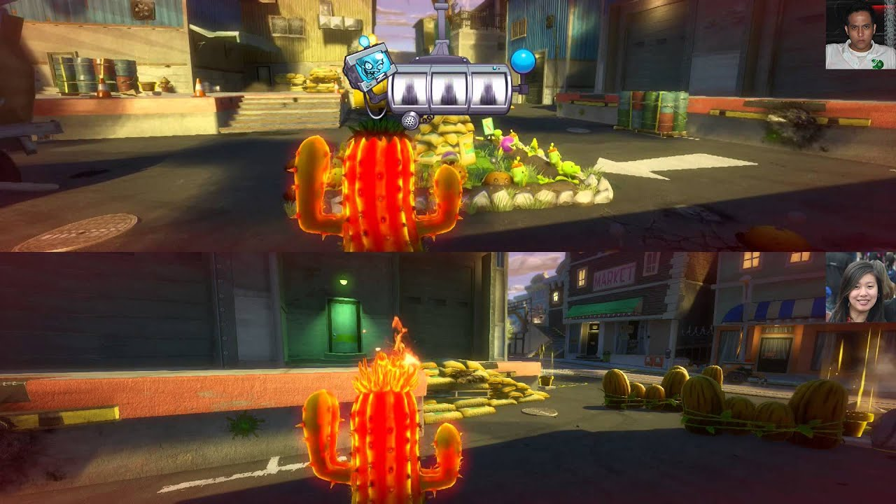 Plants Vs Zombies Garden Warfare Split Screen Garden Ops Youtube