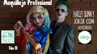 Maquillaje Profesional HARLEY QUINN Y JOKER Andrés NAVY V115 Xime Ponch