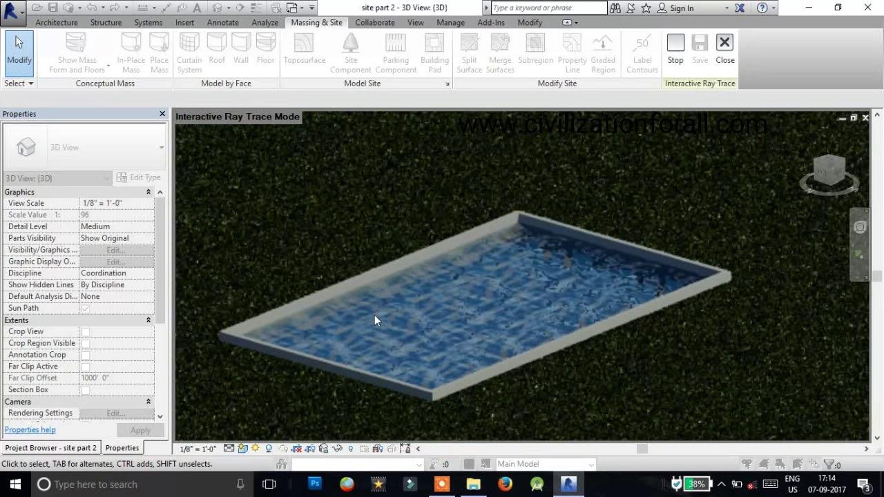 Revit swimming pool part-1
