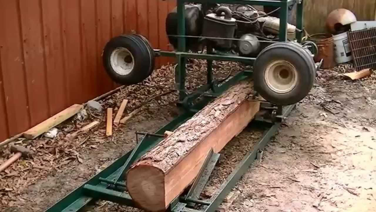 Home made sawmill from a old golf cart? works great. I can now ...