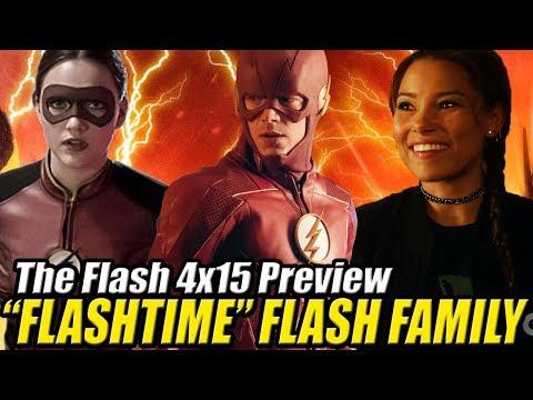 """The Flash 4x15 Preview - JESSE QUICK VUELVE ¿Qué es FLASHTIME? """"Enter Flashtime"""""""