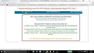 IPTV magic tool to check working links and remove dead links