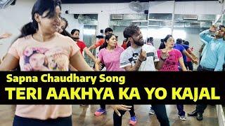 Teri Aakhya Ka Yo Kajal | Dance Fitness Choreography | Sapna Choudhary | FITNESS DANCE With RAHUL