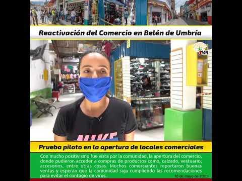 En Belén de Umbría se reactiva el comercio