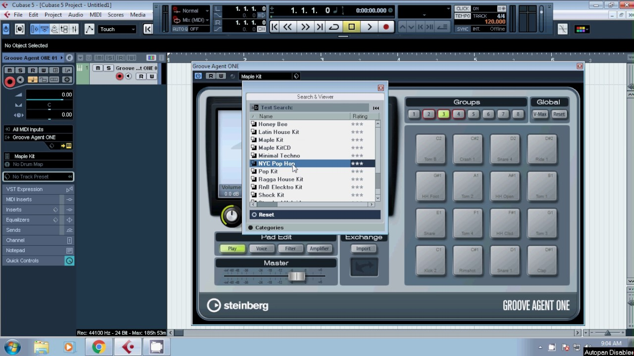 cubase 5 tutorial how to open groove agent one youtube rh youtube com Cubase 5 Review Cubase 9