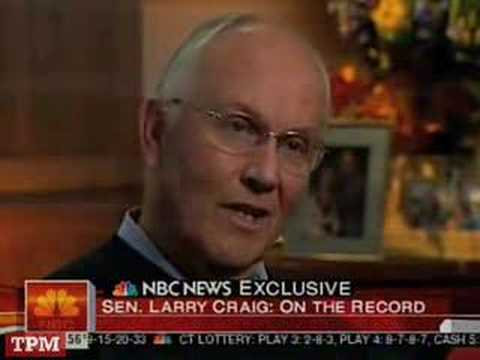 Larry Craig Interview Excerpts