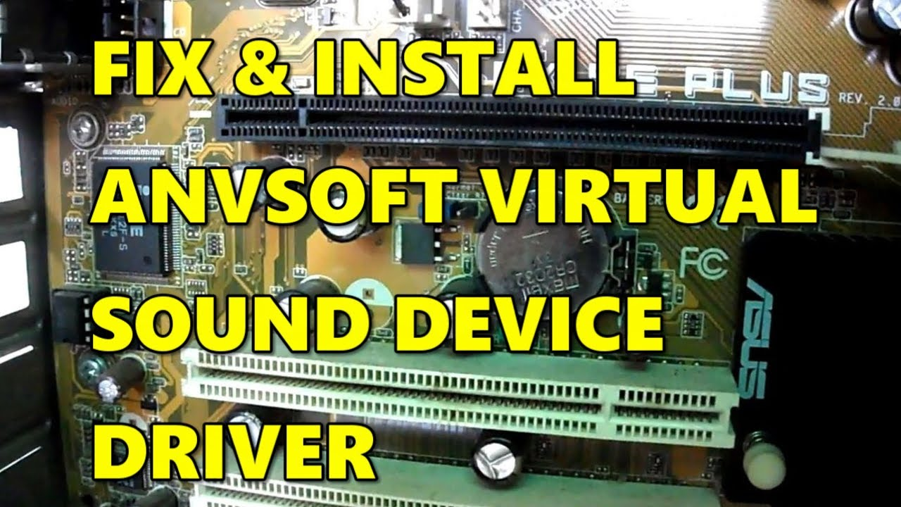how to fix install anvsoft virtual sound device driver in windows 10 youtube. Black Bedroom Furniture Sets. Home Design Ideas