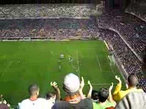 Valencia C.F. Gimnastic Estadio Mestalla  goal