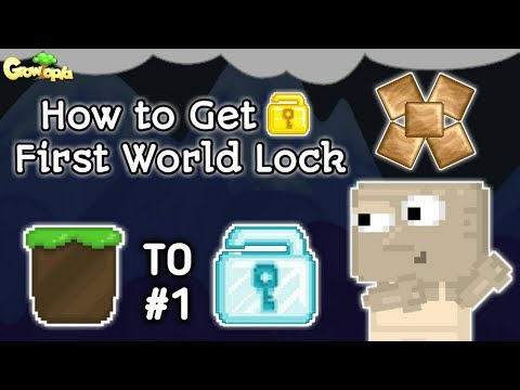 How to Get First World Lock | Growtopia Dirt to DL #1