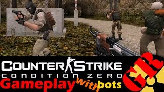 Counter-Strike: Condition Zero gameplay with Hard bots - Airstrip - Terrorist