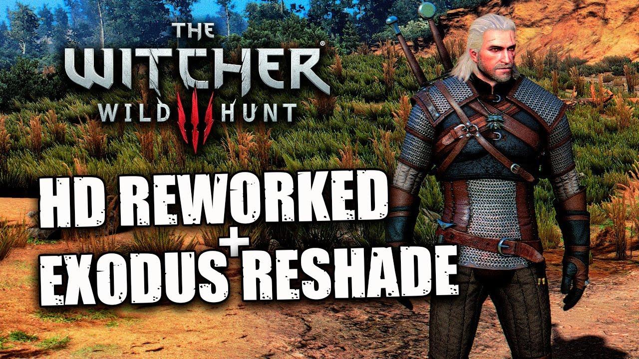 The Witcher 3   Jogando com o mod HD REWORKED + EXODUS RESHADE   AO VIVO
