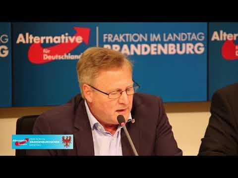 Medikamentenskandal Brandenburg / Pressekonferenz der AfD-Fraktion Brandenburg am 28.08.18