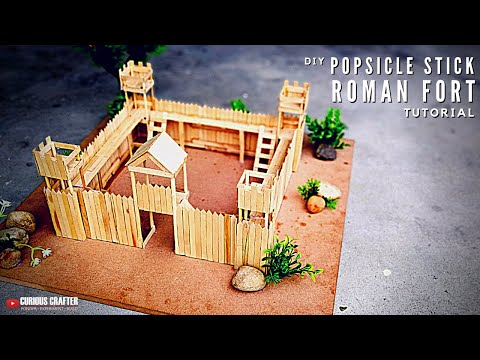 DIY Toy Fort - How to Make a Toy Fort from Popsicle Sticks