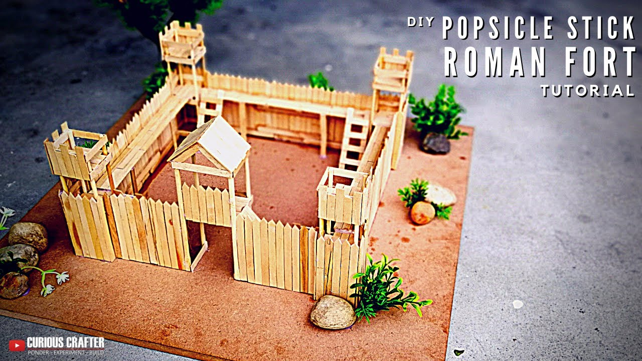 Diy Toy Fort How To Make A Toy Fort From Popsicle Sticks Youtube