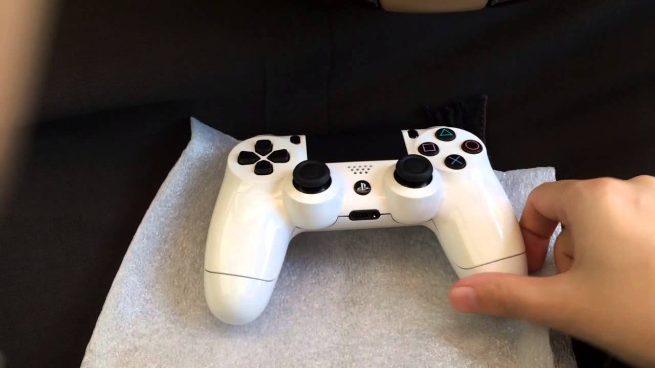 Custom White PS4 Controller by Evil Controllers - YouTube