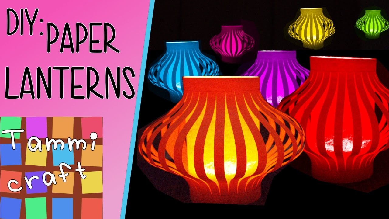 How to Make Colorful Paper Lanterns - Easy to Follow Tutorial ... for Make Chinese Paper Lantern  51ane