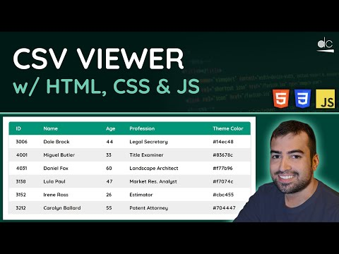 CSV Viewer With HTML, CSS & JavaScript - Project Video
