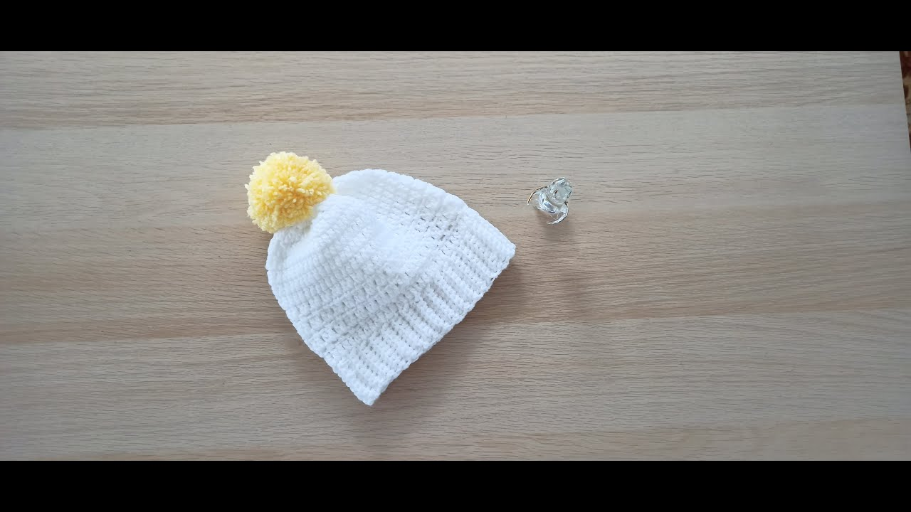 Como hacer en crochet o ganchillo un gorro para bebés, niñas y niños