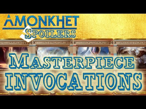 Amonkhet Masterpieces - ALL INVOCATIONS!!!