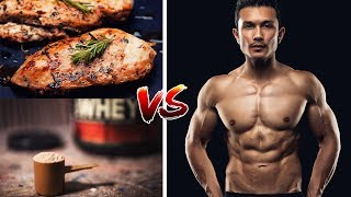 WHEY PROTEIN VS CHICKEN- Can you eat CHICKEN right after workout? [ हिंदी में ]