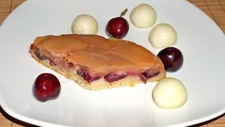 Летняя яблочная шарлотка с черешней__Apple Cherry pie