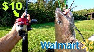 INSANE $10 Walmart Fishing CHALLENGE!!! (NO BAIT)