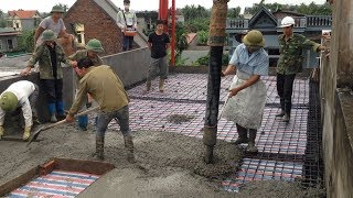 How To Build Roof Using Ready Mixed Concrete - Construction Technology