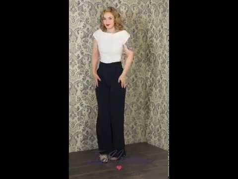 TopVintage - 50s Cordelia Top in Ivory & 40s Nicolette ...