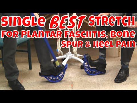 Single BEST Stretch for Plantar Fasciitis, Bone Spur & Heel Pain
