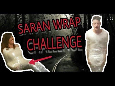 NEW saran wrap challenge cling film wrap