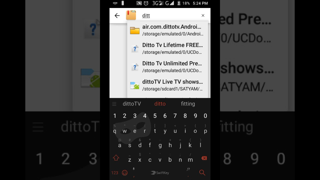 Ditto Tv hacked Apk