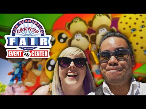 Winning carnival games at the San Bernadino County Fair!