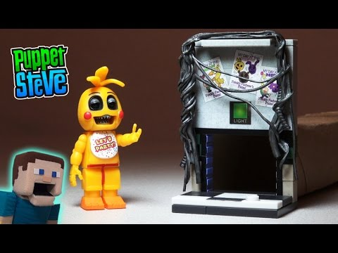 Five Nights at Freddys fnaf McFarlane toys lego TOY CHICA Right Air Vent construction set unboxing